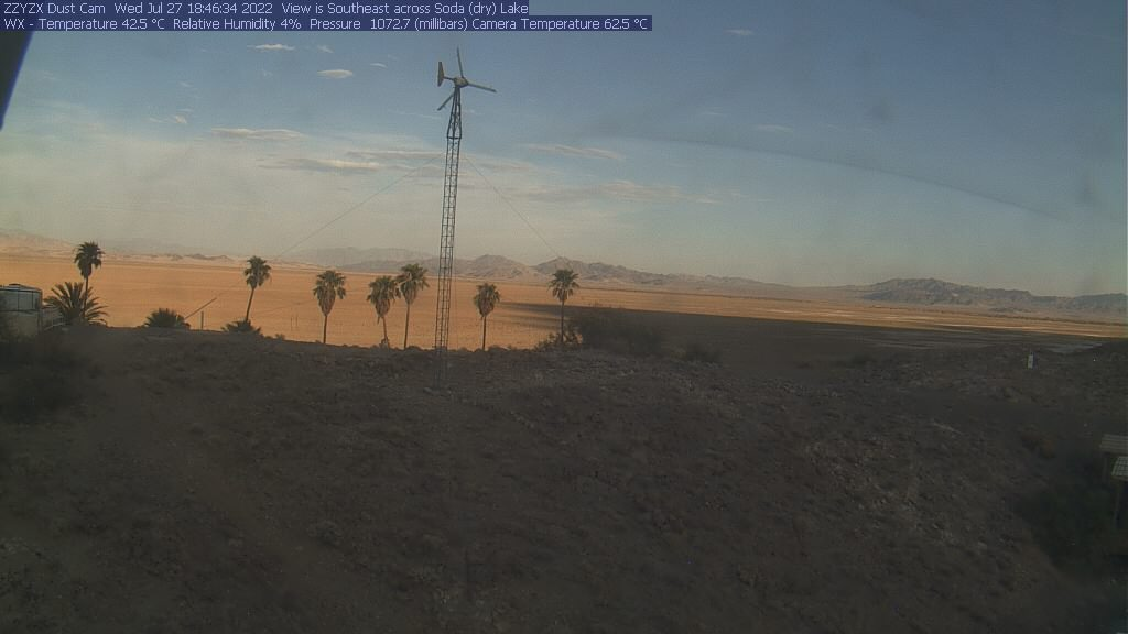 CSU Desert Dust Web Cam in Zzyzx, looking southeast